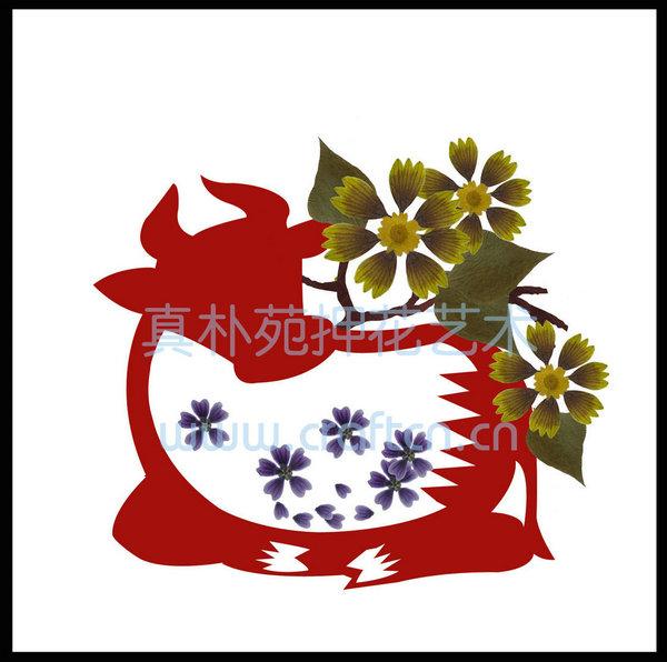 十二生肖系列押花装饰画